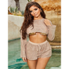 Wholesale Two Pieces Swimsuit Voile Sleeves Bikin Set