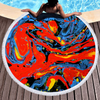 Factory Hot Seller Custom Larger Pink Marble Quick Dry Round Microfiber Beach Towel with Tassels 2020