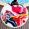 Wholesale Custom Marble Quick Dry Round Microfiber Beach Towel For summer