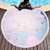 Custom Marble Quickly Dry Round Printed Microfiber Beach Towel for Summer