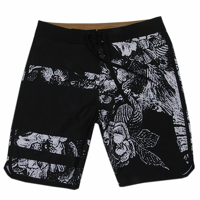 Wholesale Black Ground Floral Printed Men's Trunk 2021 Trend Swimming Shorts