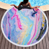 Wholesale Marble Quickly Dry Round Colorfule Printed Larger Microfiber Beach Towel 2020