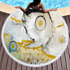 Factory Colorful Larger Size Special Pattern Round Printed Marble Microfiber Beach Towel 2020