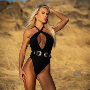 Wholesale One Piece Swimsuit Black Sexy Bikini