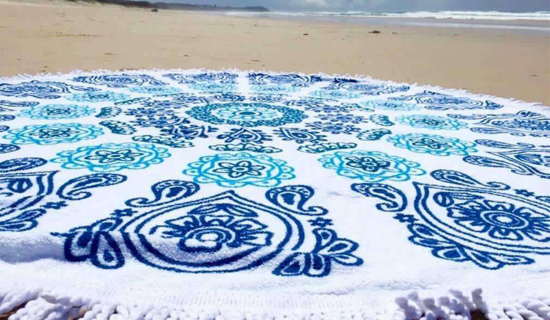 How to Make a Beautiful Round Beach Towel?