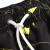 Wholesale Navy Ground Yellow Geomatric Printed Men's Trunk 2021 Trend Swimming Shorts