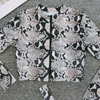 Custom Made Two Pieces Swimsuit Snake Skin Print Long Sleeves Sport Swimsuit